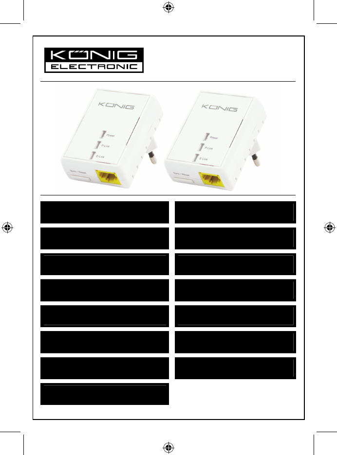 Gebruiksaanwijzing homeplug sitecom