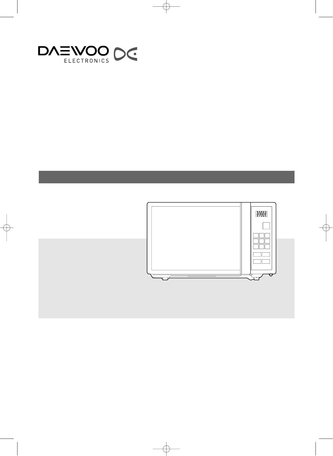 Daewoo KOC9Q1TSL manual