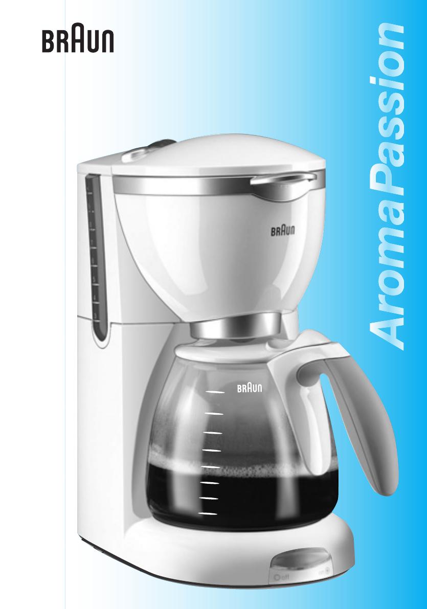 Инструкция по эксплуатации кофеварки braun