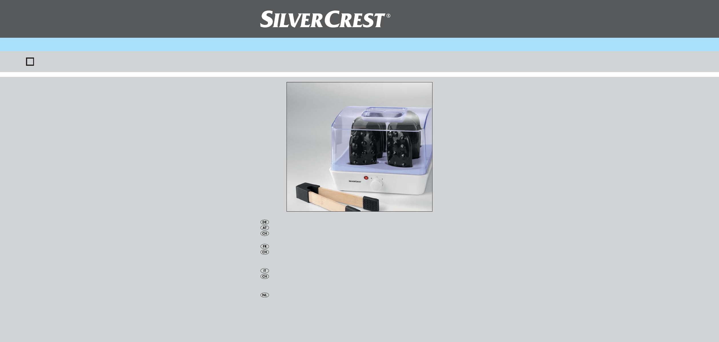 Imetec Sensuij Mc1 200.Handleiding Silvercrest Shs 220 A1 58 Pagina S