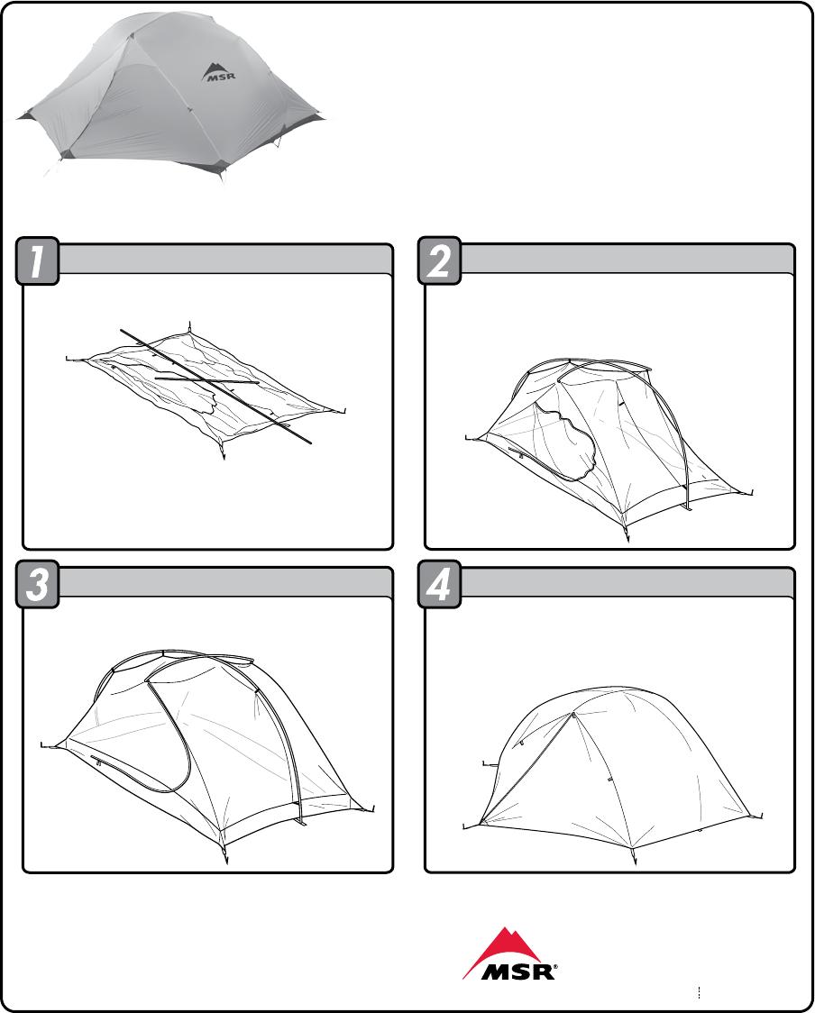 Msr Carbon Reflex 3 Handleiding 1 Pagina S